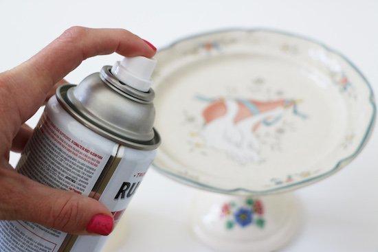 Spray paint garage sale finds