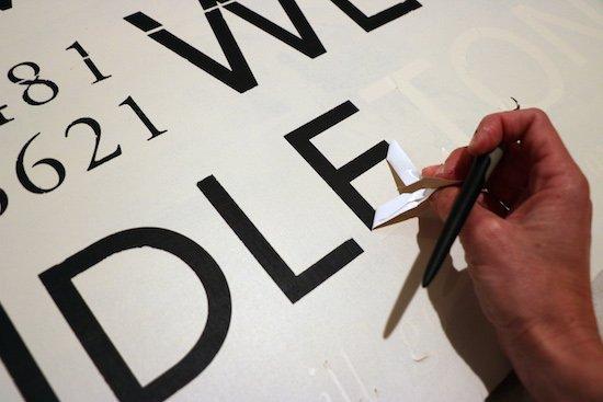 Using Silhoutte vinyl as stencil
