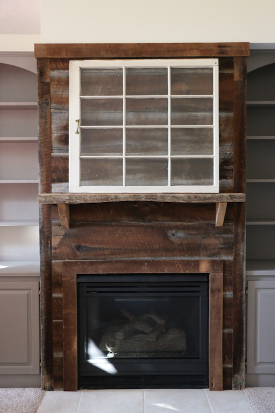 Fireplace Makeover With Paint And Barnwood Sincerely Sara D