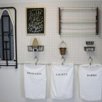 DIY Laundry Room Pegboard