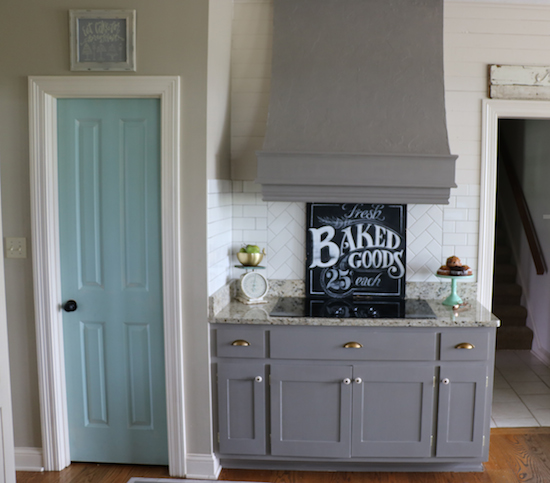 Gray Painted Kitchen Cupboards: Why I Repainted My Chalk Painted Cabinets