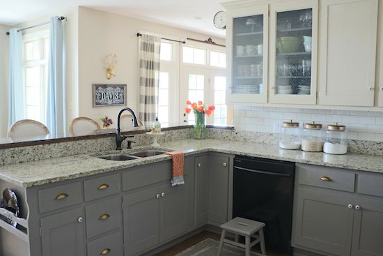 Why I Repainted My Chalk Painted Cabinets Sincerely Sara D - How to paint kitchen cabinets gray