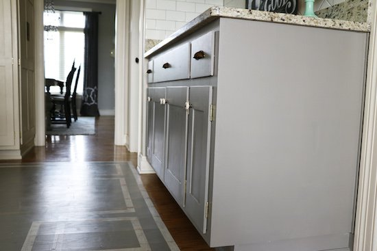 Painting cabinet with chalk paint