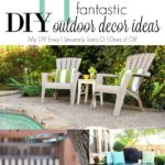 Talk DIY to Me Link Party #3 & Outdoor Decor Ideas