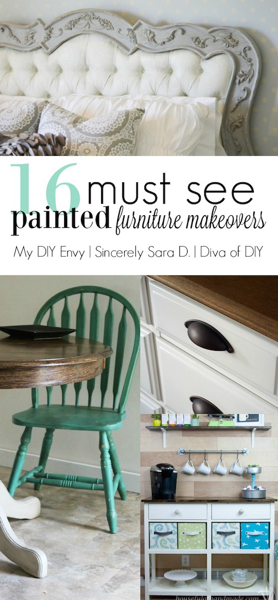 16 Painted Furniture Makeovers & Talk DIY to Me Link Party #6