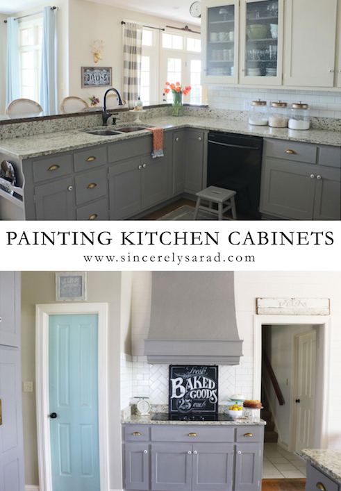 Painting kitchen cabinets all done sincerely sara d for Can i paint kitchen cabinets with chalk paint