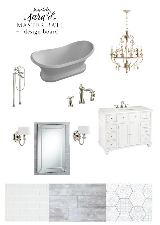 Master Bath Design Board