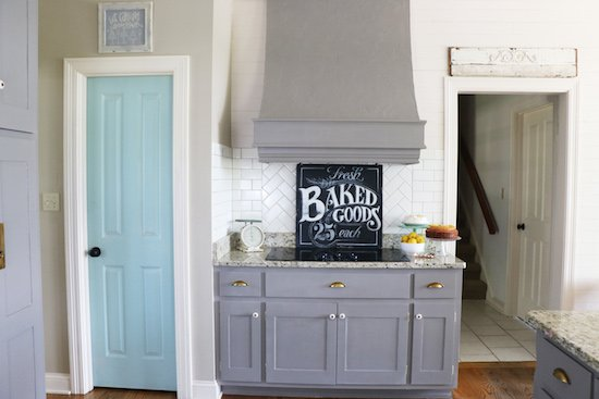 Painted Kitchen Cabinets.