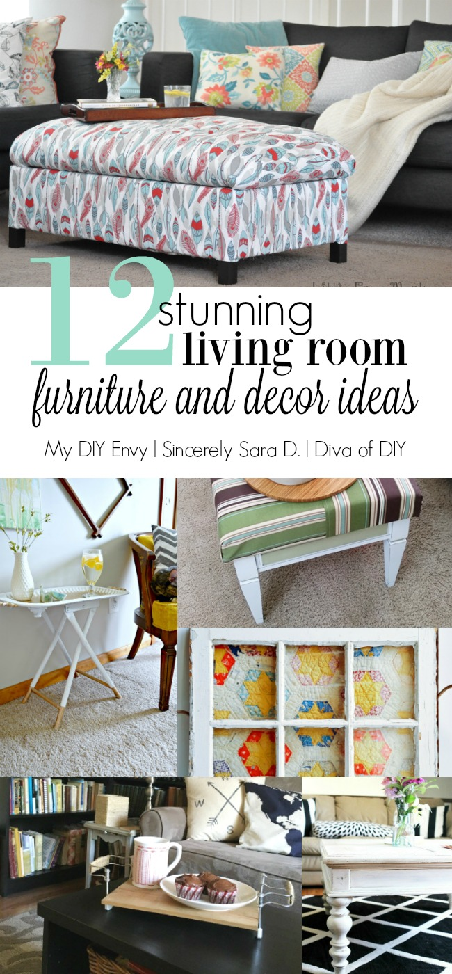 12 DIY Living Room Decor and Furniture Ideas & Talk DIY to Me Link Party #8