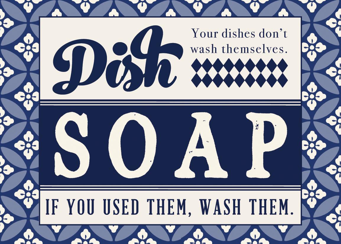 Printable Dish Soap Label