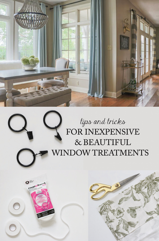 Inexpensive tips for Window Treatments