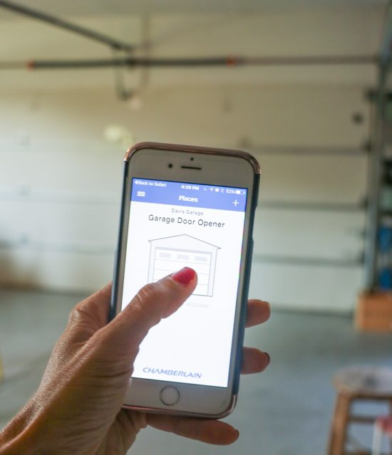 how to connect iphone to chamberlain garage door