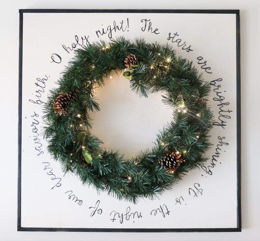 DIY Wooden Wreath Sign