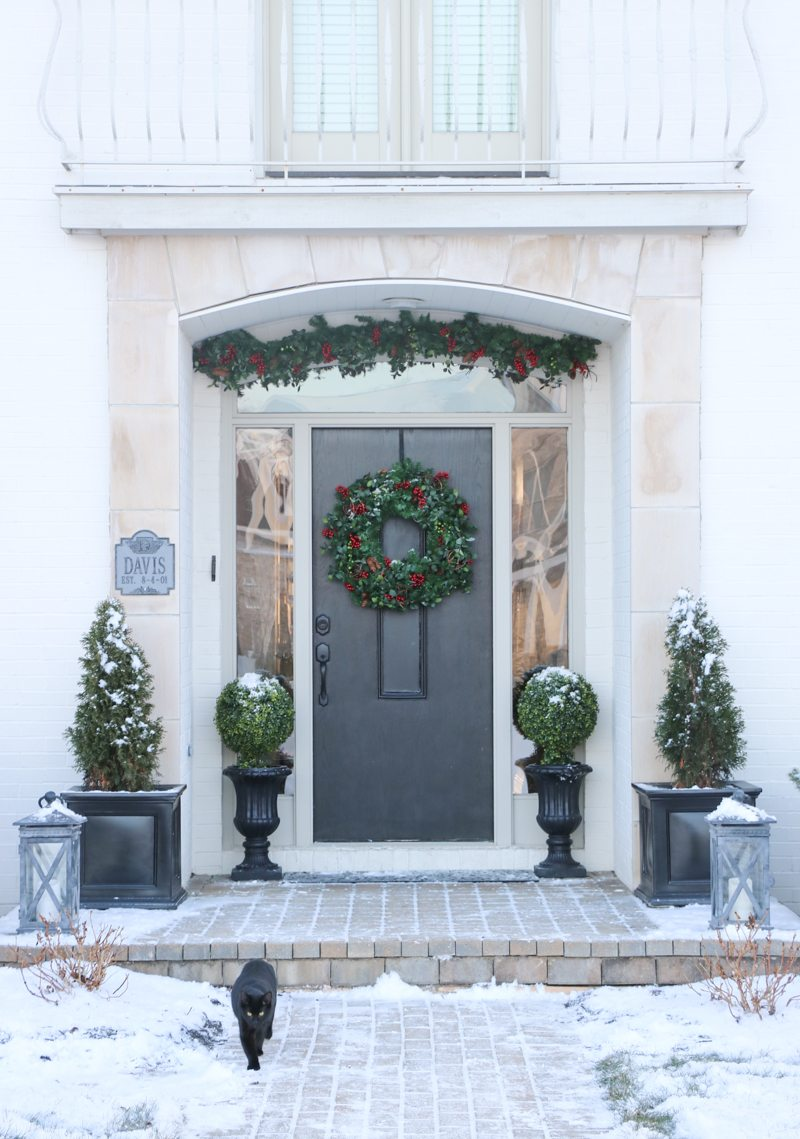Front Door Makeover with Balsam Hill