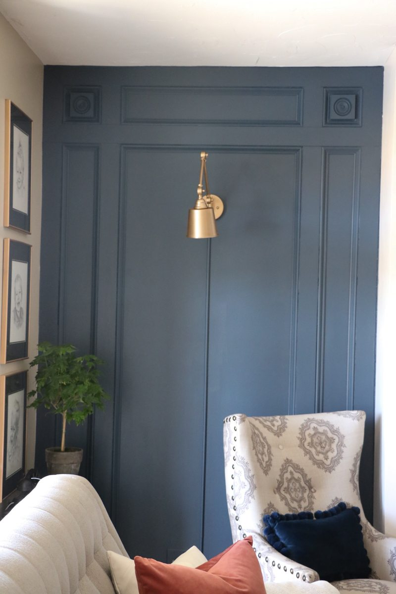 Diy Elegant Paneled Wall With Remodelaholic Sincerely Sara D