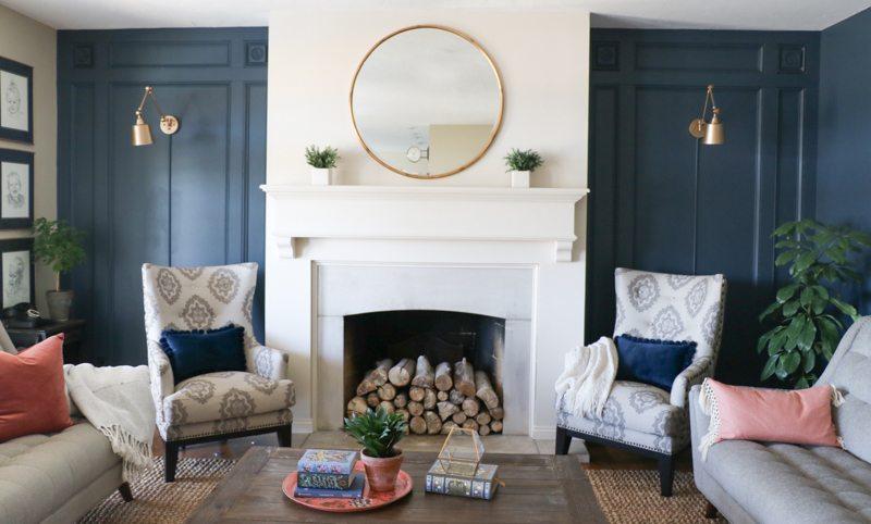 DIY Elegant Paneled Wall with Remodelaholic