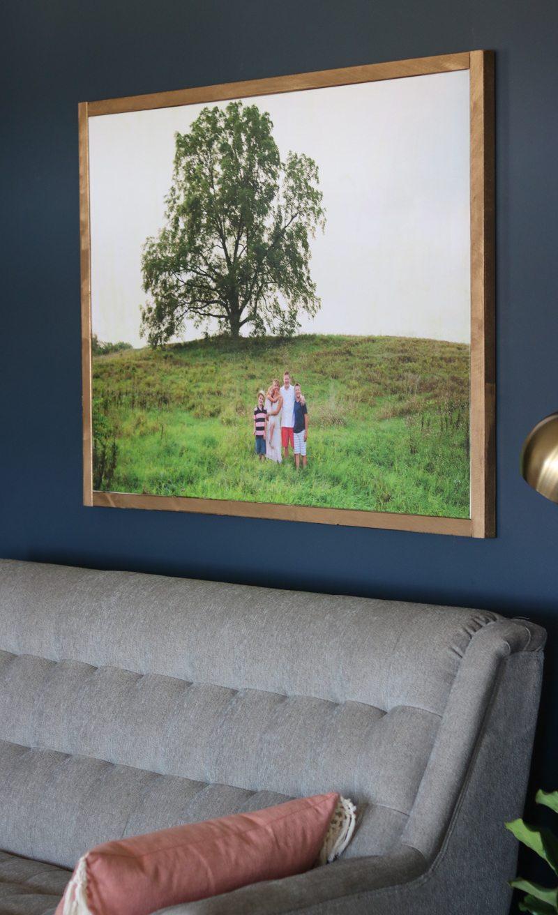DIY Large Photo Canvas