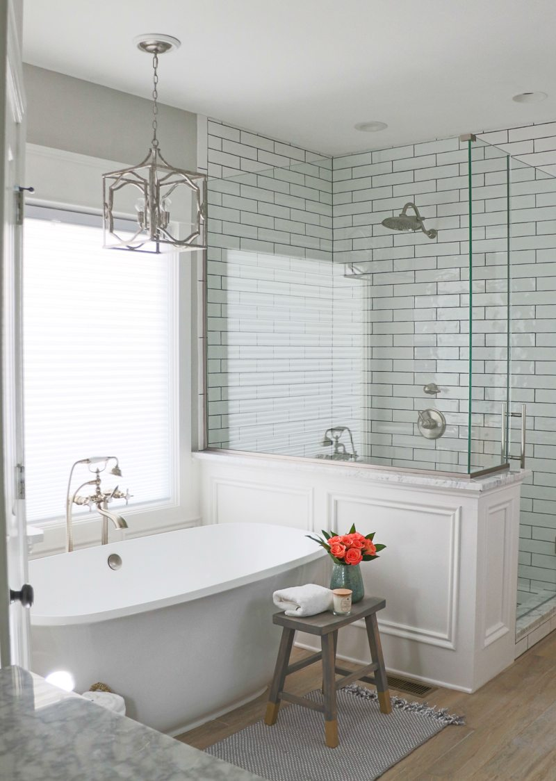 white bathroom remodel bathroom remodel reveal sincerely d 15088