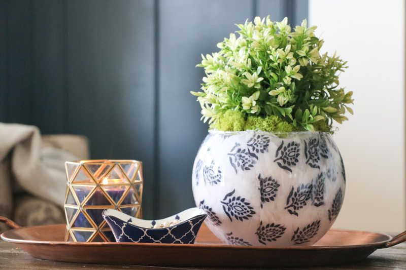 Styling a Tray with Hobby Lobby