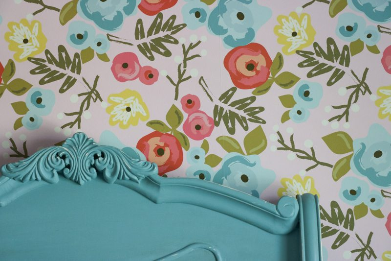 Wallpaper You Can Color lena's bedroom makeover | floral wallpaper | sincerely, sara d.