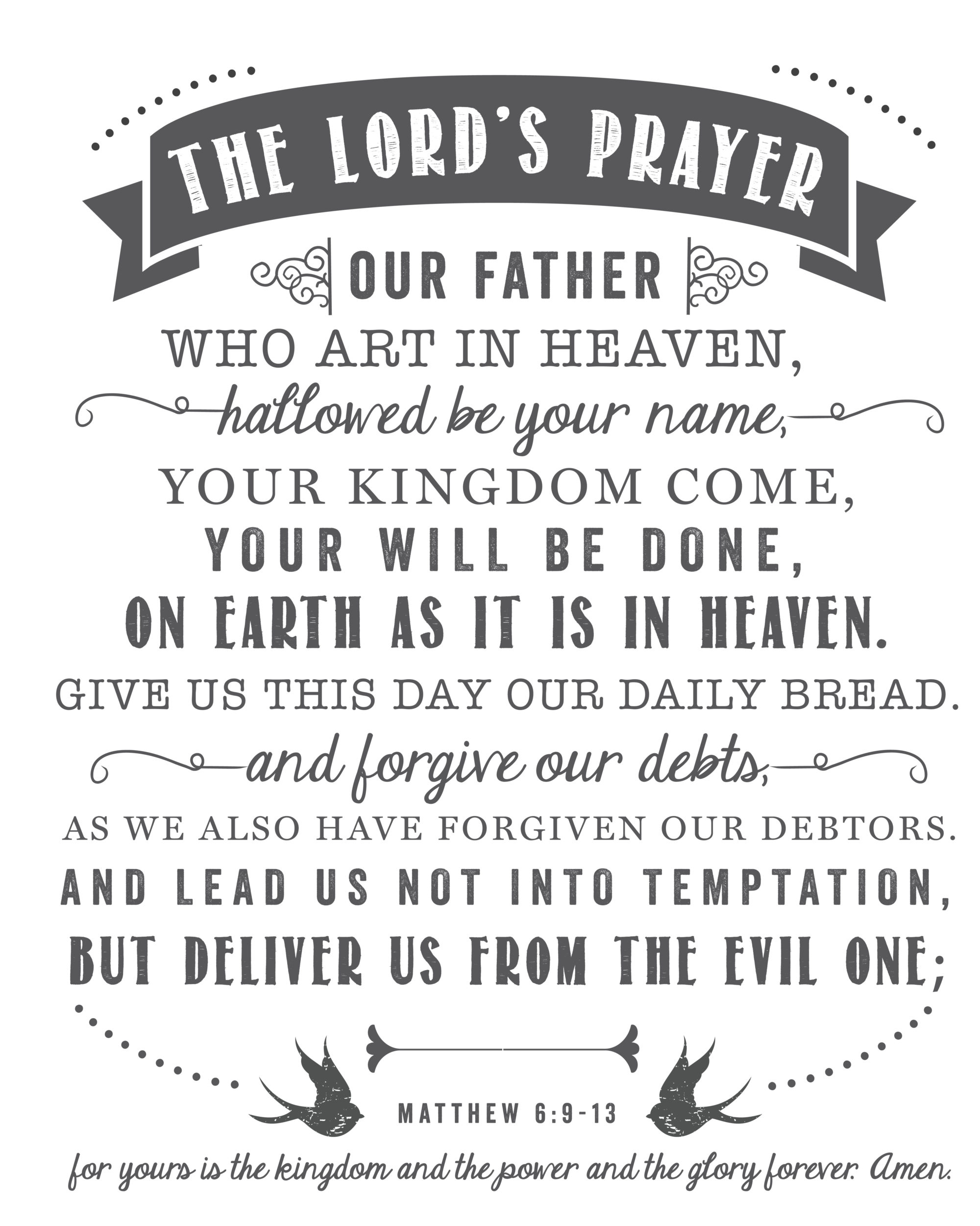 The Lord S Prayer Free Printable Sincerely Sara D