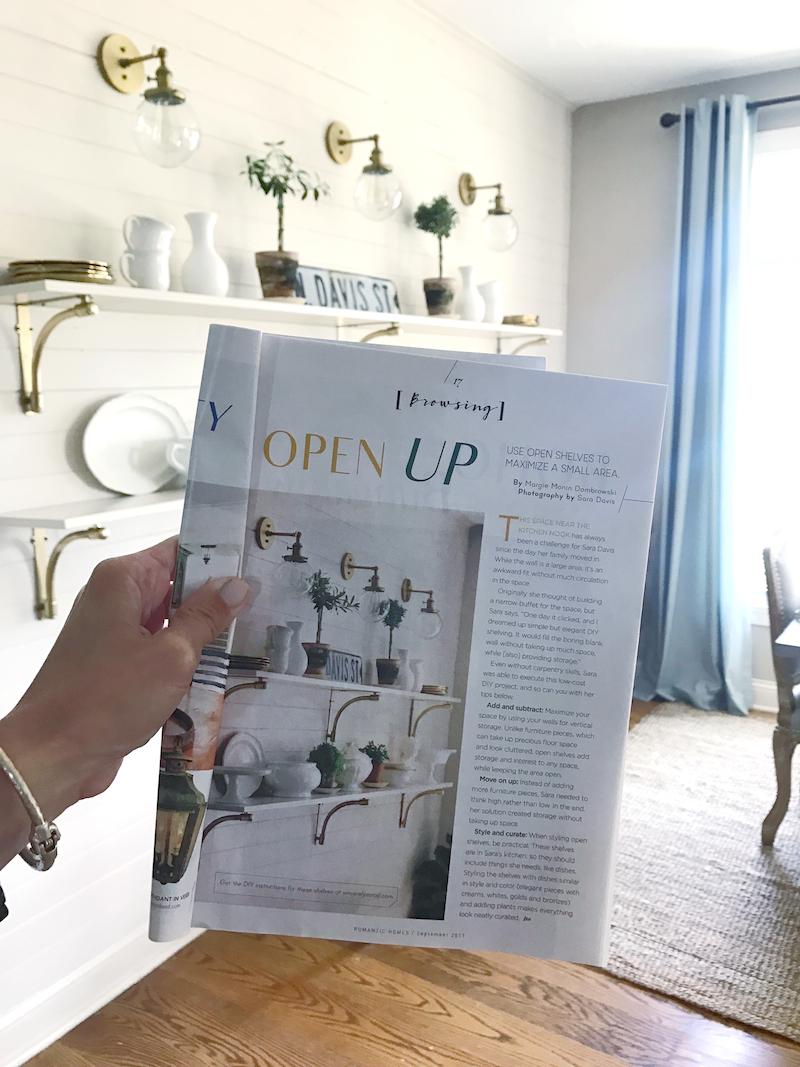 DIY Open Shelves | Romantic Homes Feature