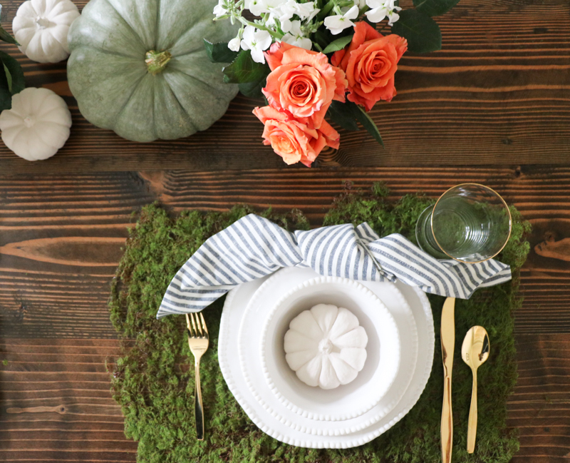 I Was Too Early For White Pumpkins This Year And Really Want A Little Pumpkin To Decorate Each Place Setting Found Bag Of Bright Orange