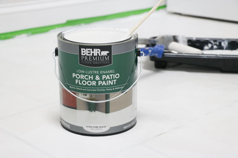 Once The Primer Is Completely Dry, Paint The Floor With Two Coats Of BEHRu0027s  Porch And Patio Floor Paint.