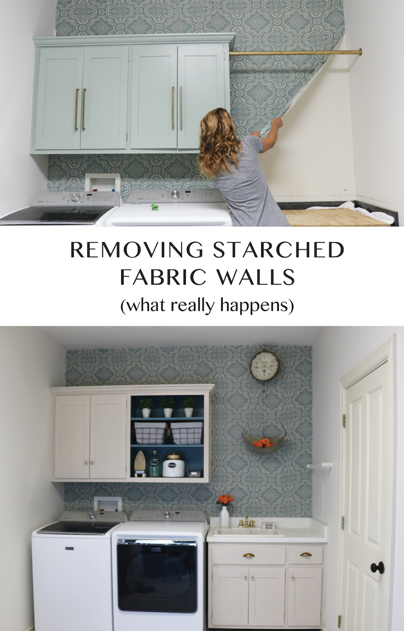 See what happens when you remove starched fabric walls...