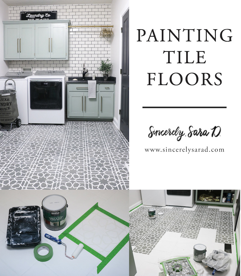 Painting Tile Floors Sincerely Sara D - Repainting floor tiles