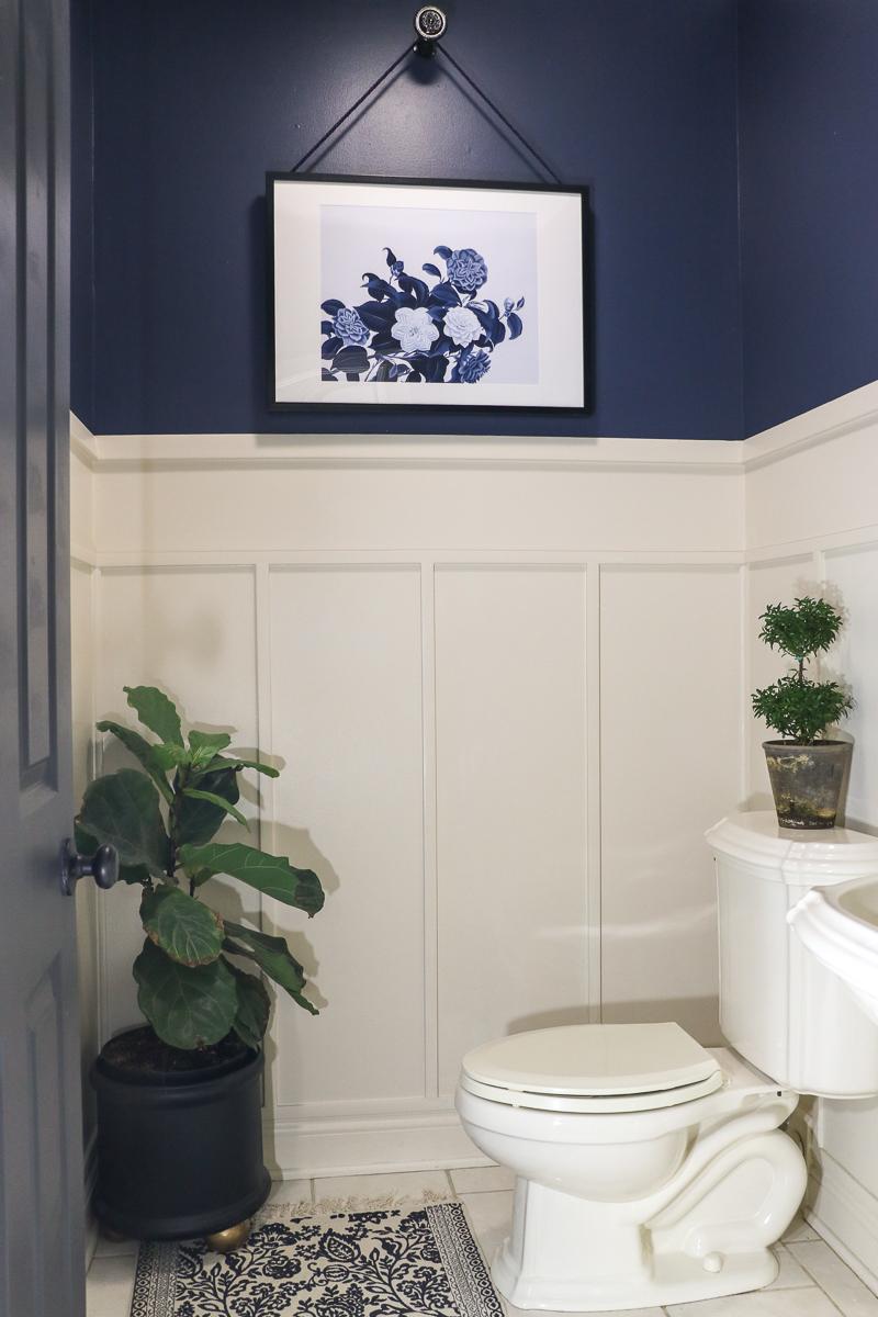 Navy Bathroom Makeover - Sincerely, Sara D.  Home Decor & DIY