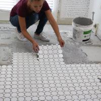 Bathroom Remodel Week 3 | How to Tile Floors & Walls