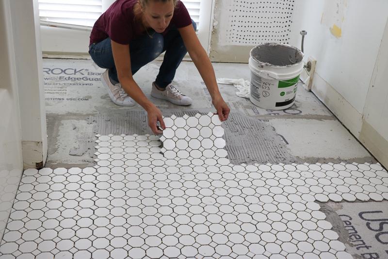 Bathroom Remodel Week 3   How to Tile Floors & Walls