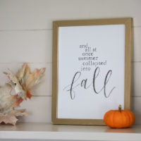 Simple Fall Decor | Free Fall Printables