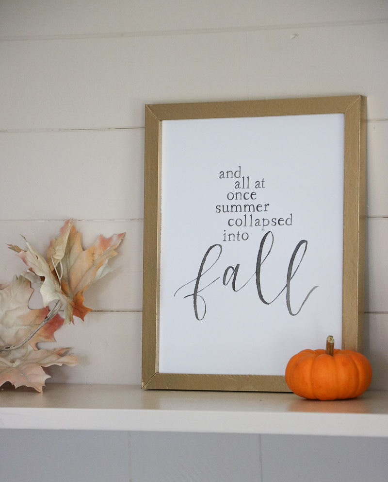 Simple Fall Decor | Free Fall Printables
