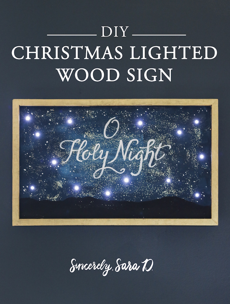 Christmas Lighted Sign.Diy Christmas Lighted Wood Sign Sincerely Sara D