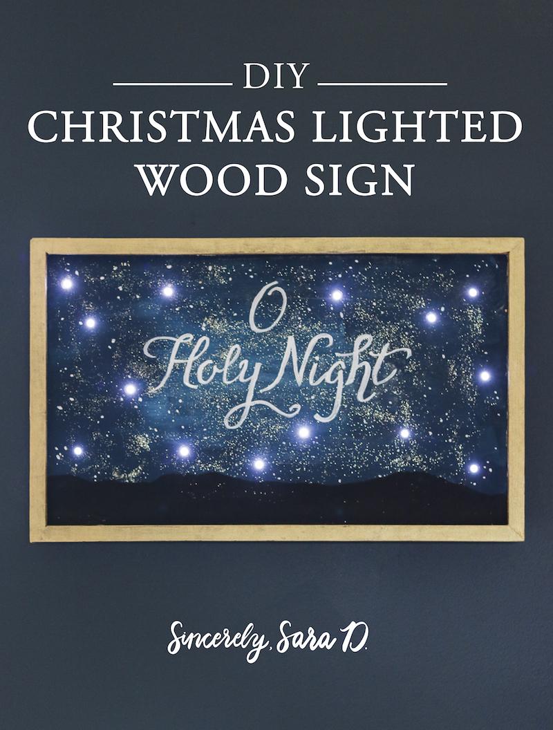 Diy Christmas Lighted Wood Sign Sincerely Sara D