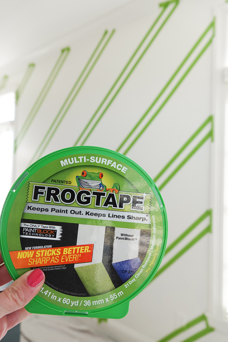 How to paint accent walls and bookshelves with FrogTape