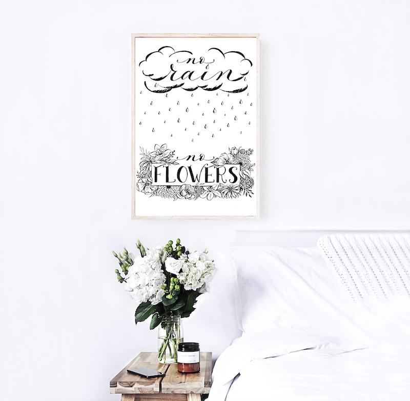 Free Print – No Rain, No Flowers