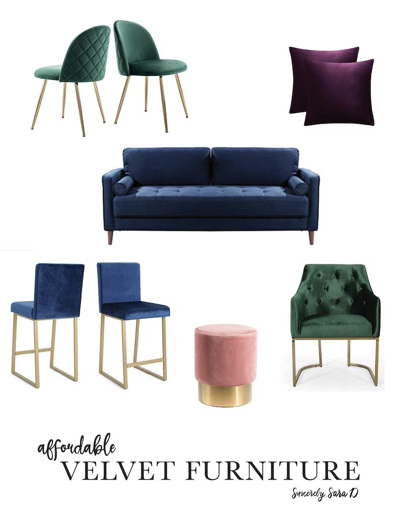 Affordable Velvet Furniture
