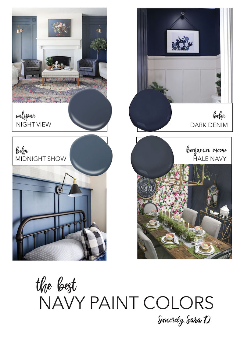The Best Navy Paint Colors