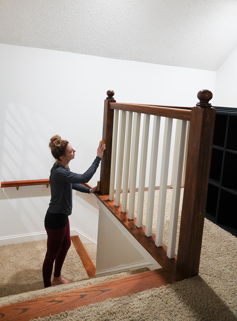 How to Paint Stair Railing