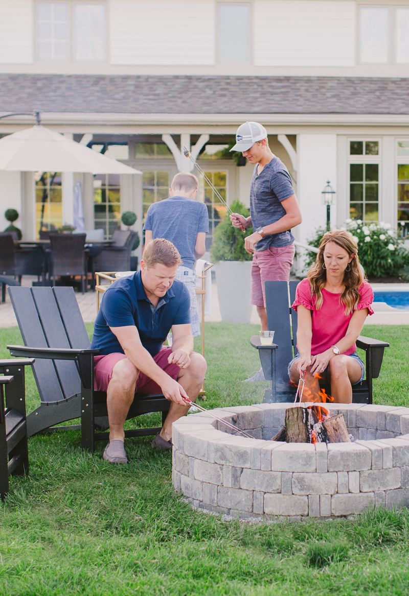 How to Build a Fire Pit and the Best Adirondack Chairs