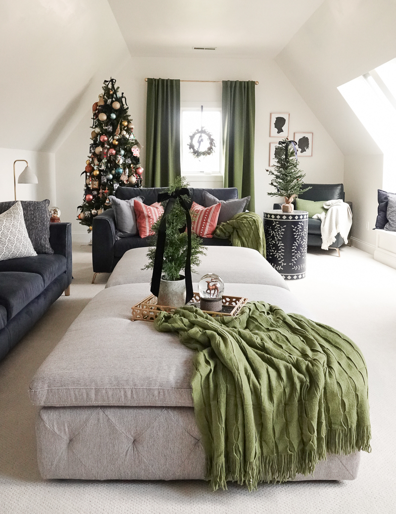 Family Room Holiday Decor