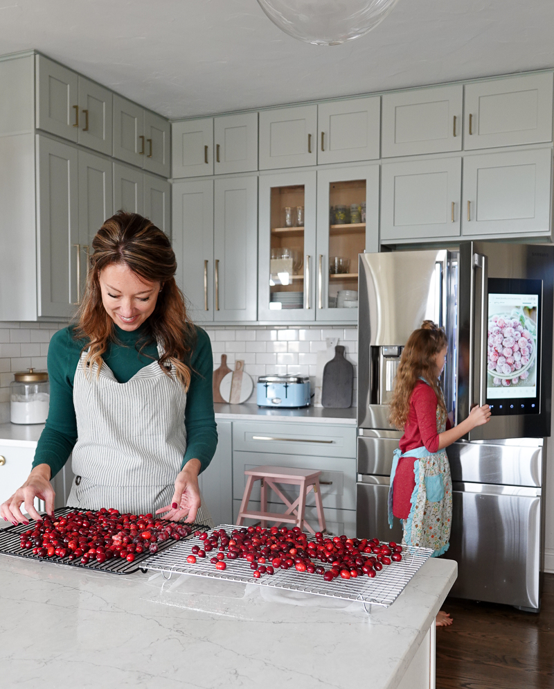 Sugared Cranberries with Our Smarth Fridge